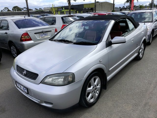 Used Holden Astra TS Convertible Cheltenham, 2004 Holden Astra TS Convertible Silver 4 Speed Automatic Convertible