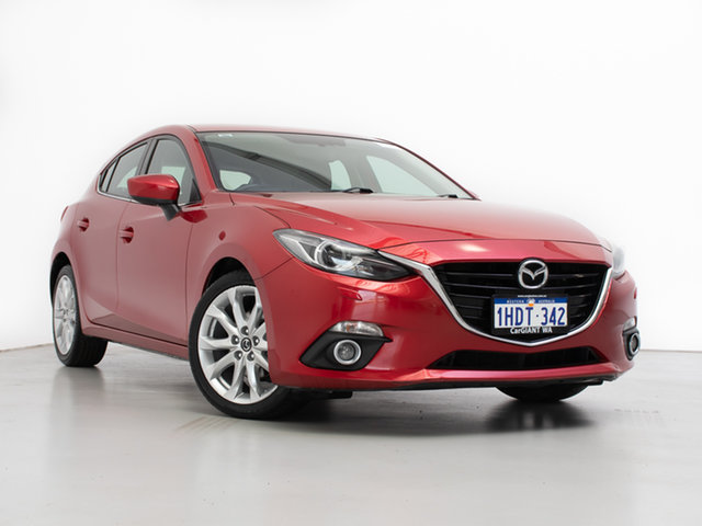 Used Mazda 3 BM MY15 SP25 GT, 2016 Mazda 3 BM MY15 SP25 GT Red 6 Speed Automatic Hatchback