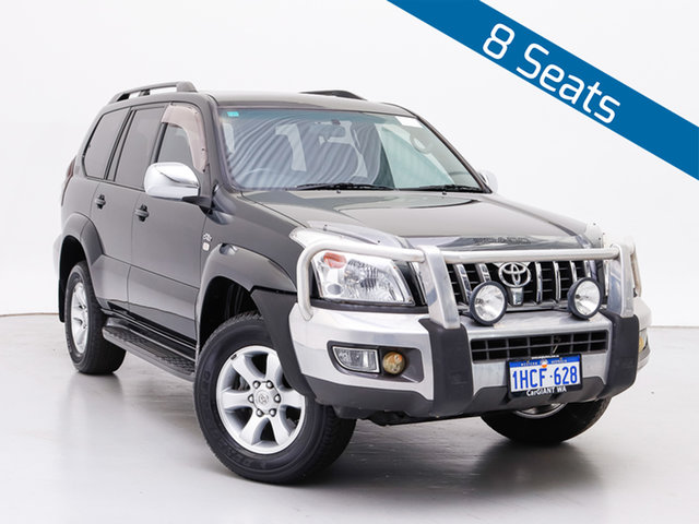 Used Toyota Landcruiser Prado KDJ120R MY07 GXL (4x4), 2007 Toyota Landcruiser Prado KDJ120R MY07 GXL (4x4) Black 6 Speed Manual Wagon