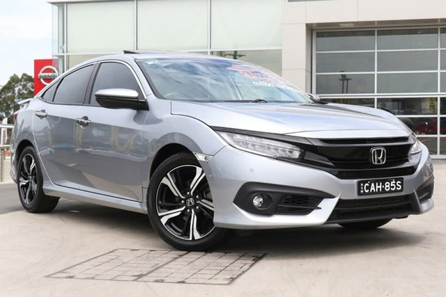 Used Honda Civic 10th Gen MY17 RS Liverpool, 2017 Honda Civic 10th Gen MY17 RS Silver 1 Speed Constant Variable Sedan