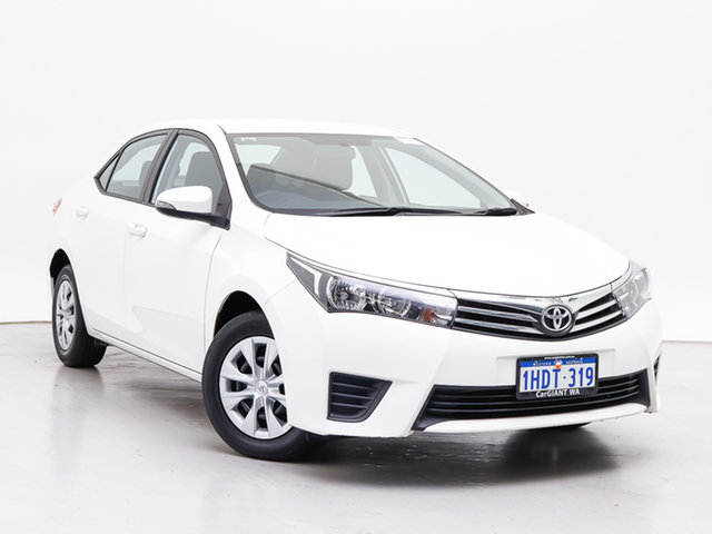 Used Toyota Corolla ZRE172R Ascent, 2016 Toyota Corolla ZRE172R Ascent White 7 Speed CVT Auto Sequential Sedan