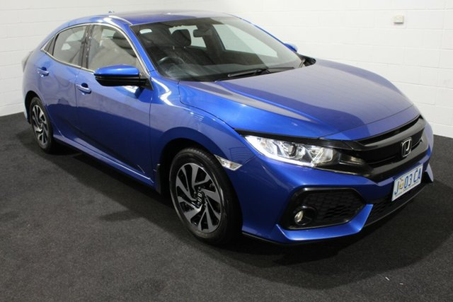 Used Honda Civic 10th Gen MY17 VTi Glenorchy, 2017 Honda Civic 10th Gen MY17 VTi Blue 1 Speed Constant Variable Hatchback