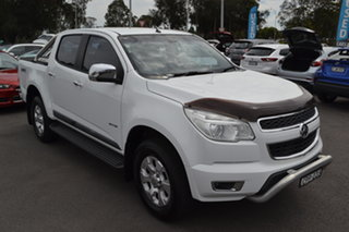2013 Holden Colorado RG MY13 LTZ Crew Cab White 5 Speed Manual Utility.