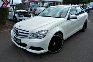 2011 Mercedes-Benz C-Class W204 MY11 C200 BlueEFFICIENCY 7G-Tronic + Elegance White 7 Speed.