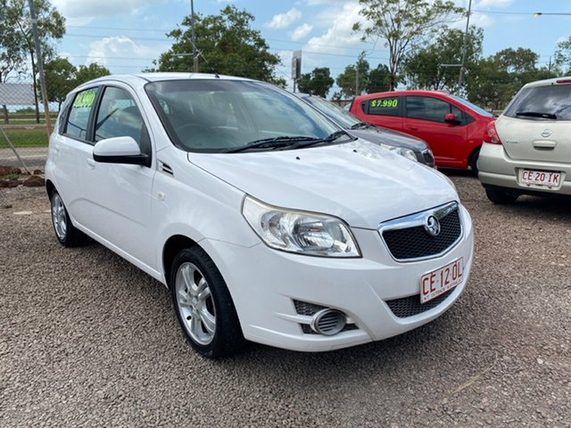 Used Holden Barina TK MY10 Pinelands, 2010 Holden Barina TK MY10 White 5 Speed Manual Hatchback