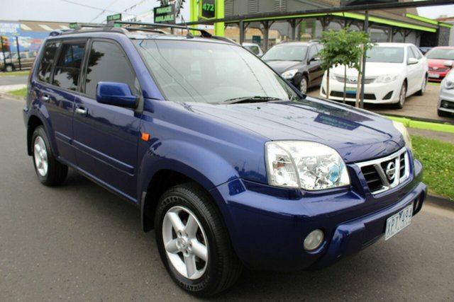 Used Nissan X-Trail T30 Ti Luxury West Footscray, 2003 Nissan X-Trail T30 Ti Luxury Blue 4 Speed Automatic Wagon