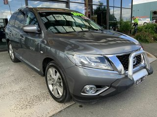 2016 Nissan Pathfinder R52 MY15 TI (4x4) Grey Continuous Variable Wagon.