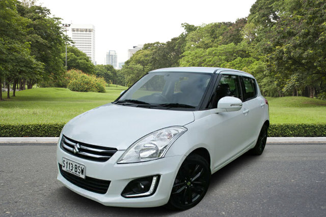 Used Suzuki Swift FZ MY15 GLX Navigator Murray Bridge, 2015 Suzuki Swift FZ MY15 GLX Navigator White 4 Speed Automatic Hatchback