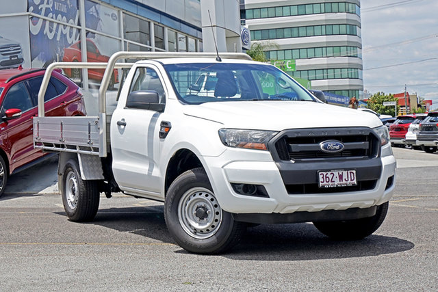 Used Ford Ranger PX MkII XL Springwood, 2016 Ford Ranger PX MkII XL White 6 Speed Manual Cab Chassis