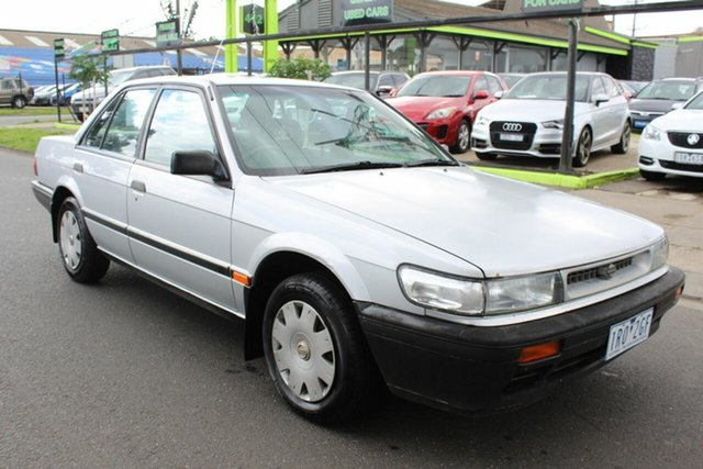 Used Nissan Pintara TI West Footscray, 1990 Nissan Pintara TI Silver 4 Speed Automatic Sedan