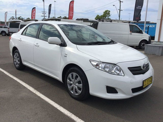 Used Toyota Corolla ZRE152R MY11 Ascent Cardiff, 2010 Toyota Corolla ZRE152R MY11 Ascent White 4 Speed Automatic Sedan