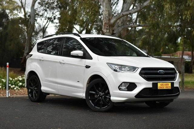 Used Ford Escape ZG 2018.75MY ST-Line Cheltenham, 2018 Ford Escape ZG 2018.75MY ST-Line White 6 Speed Sports Automatic SUV