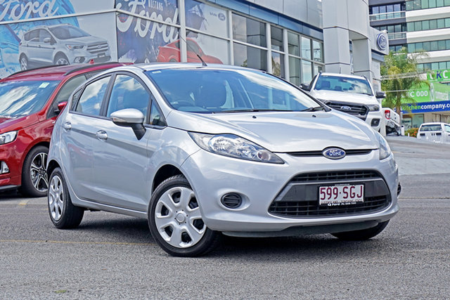 Used Ford Fiesta WT CL PwrShift Springwood, 2012 Ford Fiesta WT CL PwrShift Silver 6 Speed Sports Automatic Dual Clutch Sedan