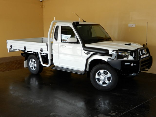 New Mahindra Pik-Up MY20 4WD S6+ Pastoral Pack Toowoomba, 2020 Mahindra Pik-Up MY20 4WD S6+ Pastoral Pack White 6 Speed Manual Cab Chassis