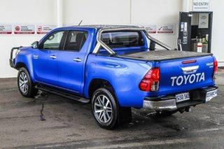 2015 Toyota Hilux GUN126R SR5 Double Cab Nebula Blue 6 Speed Sports Automatic Utility.