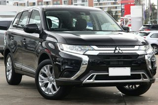 2021 Mitsubishi Outlander ZL MY21 ES 2WD Black 6 Speed Constant Variable Wagon.