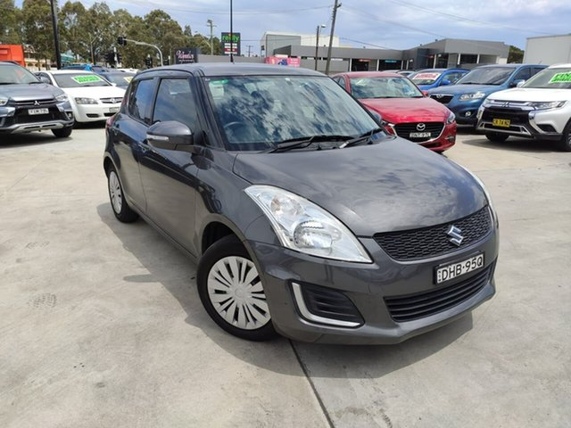 Used Suzuki Swift FZ MY15 GL Liverpool, 2016 Suzuki Swift FZ MY15 GL Grey 4 Speed Automatic Hatchback
