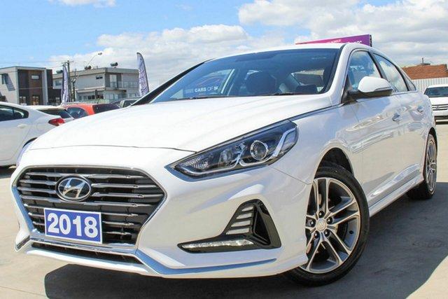 Used Hyundai Sonata LF4 MY19 Active Coburg North, 2018 Hyundai Sonata LF4 MY19 Active White 8 Speed Sports Automatic Sedan