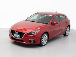 2016 Mazda 3 BM MY15 SP25 GT Red 6 Speed Automatic Hatchback