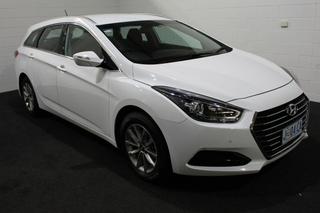 Used Hyundai i40 VF4 Series II Active Tourer D-CT Glenorchy, 2018 Hyundai i40 VF4 Series II Active Tourer D-CT Pure White 7 Speed Sports Automatic Dual Clutch