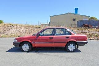 1991 Toyota Corolla AE90 CS Red 3 Speed Automatic Sedan.