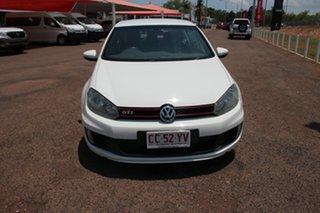 2012 Volkswagen Golf VI MY12.5 GTi White Nova 6 Speed Manual Hatchback.
