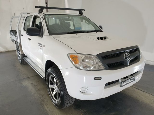 Used Toyota Hilux KUN26R MY09 SR Maryville, 2008 Toyota Hilux KUN26R MY09 SR White 5 Speed Manual Cab Chassis