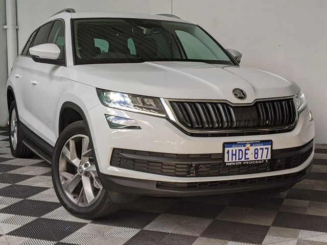 Used Skoda Kodiaq NS MY19 132TSI DSG Victoria Park, 2019 Skoda Kodiaq NS MY19 132TSI DSG White 7 Speed Sports Automatic Dual Clutch Wagon