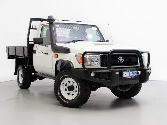 Used Toyota Landcruiser LC70 VDJ79R MY17 Workmate (4x4), 2016 Toyota Landcruiser LC70 VDJ79R MY17 Workmate (4x4) White 5 Speed Manual Cab Chassis