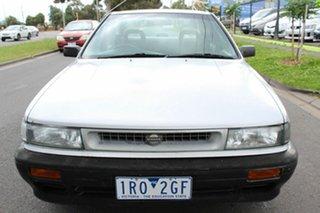 1990 Nissan Pintara TI Silver 4 Speed Automatic Sedan.