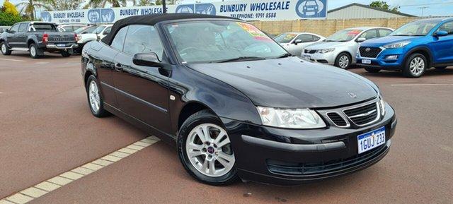 Used Saab 9-3 442 MY2006 Linear East Bunbury, 2006 Saab 9-3 442 MY2006 Linear Black 5 Speed Sports Automatic Convertible