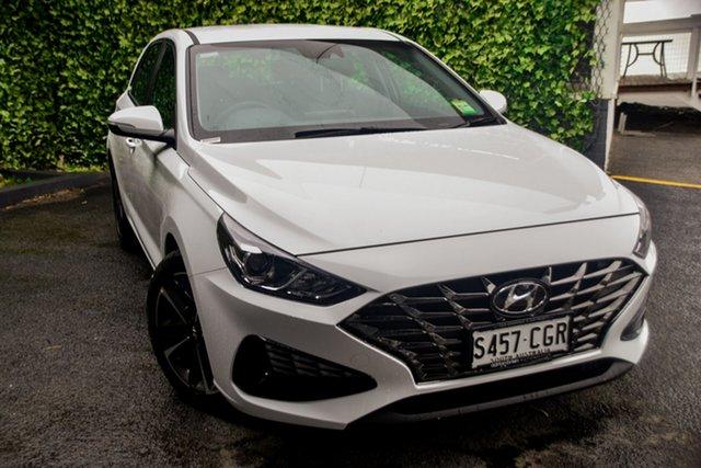 Demo Hyundai i30 PD.V4 MY21 Active St Marys, 2020 Hyundai i30 PD.V4 MY21 Active Polar White 6 Speed Sports Automatic Hatchback