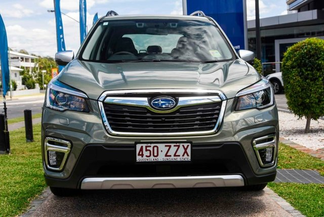 Demo Subaru Forester S5 MY21 2.5i-S CVT AWD Mount Gravatt, 2020 Subaru Forester S5 MY21 2.5i-S CVT AWD Jasper Green Metallic 7 Speed Constant Variable Wagon