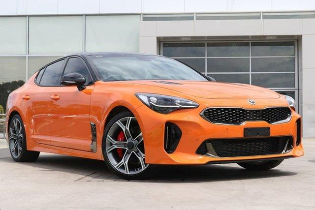 Used Kia Stinger CK MY20 GT Fastback Liverpool, 2019 Kia Stinger CK MY20 GT Fastback Neon Orange 8 Speed Sports Automatic Sedan
