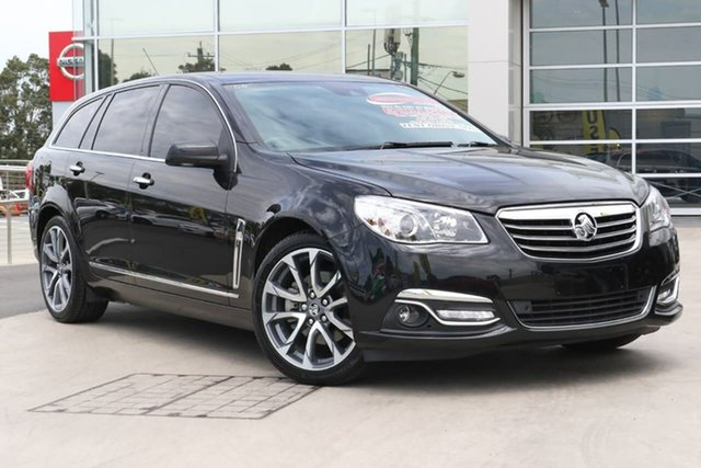 Used Holden Calais VF II MY16 V Sportwagon Liverpool, 2016 Holden Calais VF II MY16 V Sportwagon Black 6 Speed Sports Automatic Wagon