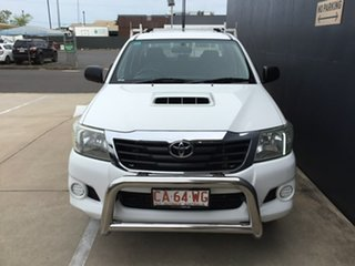 2012 Toyota Hilux KUN16R MY12 SR Double Cab 4x2 White 5 Speed Manual Utility.