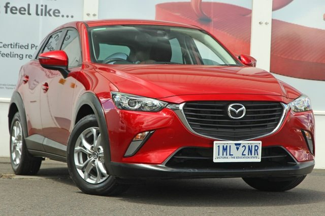 Pre-Owned Mazda CX-3 DK2W7A Maxx SKYACTIV-Drive Ferntree Gully, 2017 Mazda CX-3 DK2W7A Maxx SKYACTIV-Drive Soul Red 6 Speed Sports Automatic Wagon