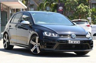 2014 Volkswagen Golf AU MY14 R Black 6 Speed Direct Shift Hatchback.