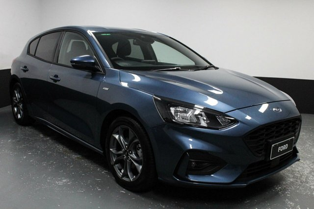 Used Ford Focus SA 2019.25MY ST-Line Hamilton, 2019 Ford Focus SA 2019.25MY ST-Line Blue 8 Speed Automatic Hatchback