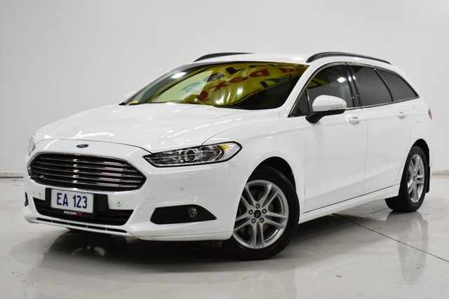 Used Ford Mondeo MD Ambiente Brooklyn, 2016 Ford Mondeo MD Ambiente White 6 Speed Sports Automatic Dual Clutch Wagon