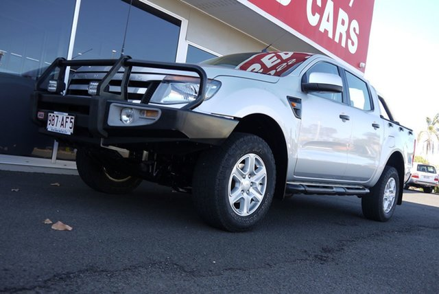 Used Ford Ranger PX XLS Double Cab Bundaberg, 2014 Ford Ranger PX XLS Double Cab Silver 6 Speed Manual Utility