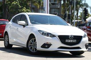2016 Mazda 3 BM MY15 Touring White 6 Speed Manual Hatchback.