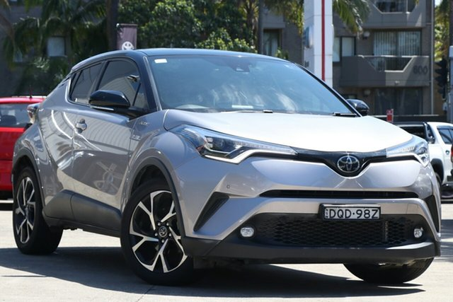 Pre-Owned Toyota C-HR NGX10R Koba (2WD) Mosman, 2017 Toyota C-HR NGX10R Koba (2WD) Shadow Platinum & Black Roof Continuous Variable Wagon