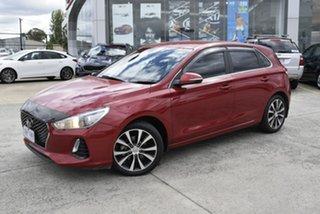2018 Hyundai i30 PD MY18 Elite D-CT Red/Black 7 Speed Sports Automatic Dual Clutch Hatchback.