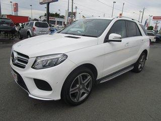 2016 Mercedes-Benz GLE-Class W166 GLE400 7G-Tronic + 4MATIC White 7 Speed Sports Automatic Wagon.