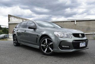 2016 Holden Commodore VF II MY16 SV6 Sportwagon Black Grey 6 Speed Sports Automatic Wagon.
