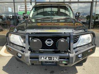 2014 Nissan Patrol Y62 ST-L (4x4) Black 7 Speed Automatic Wagon.