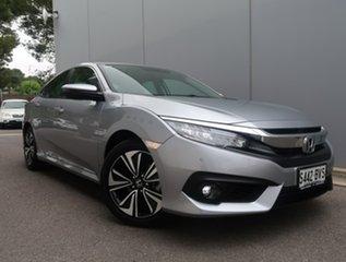 2017 Honda Civic 10th Gen MY17 VTi-LX Silver 1 Speed Constant Variable Sedan.