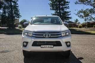 2017 Toyota Hilux GUN126R SR5 Extra Cab White 6 Speed Manual Utility.