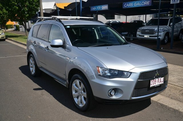 Used Mitsubishi Outlander ZH MY10 LS Toowoomba, 2010 Mitsubishi Outlander ZH MY10 LS Silver 6 Speed CVT Auto Sequential Wagon